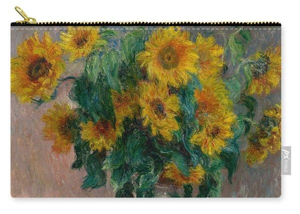 Claude Monet - Bouquet Of Sunflowers - 1881.. Carry-all Pouch