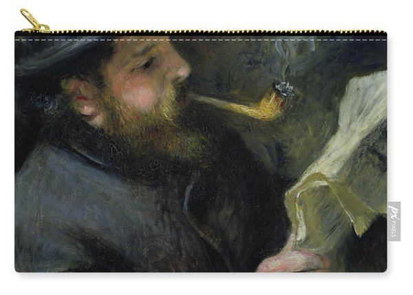 Claude Monet Reading A Newspaper Carry-all Pouch