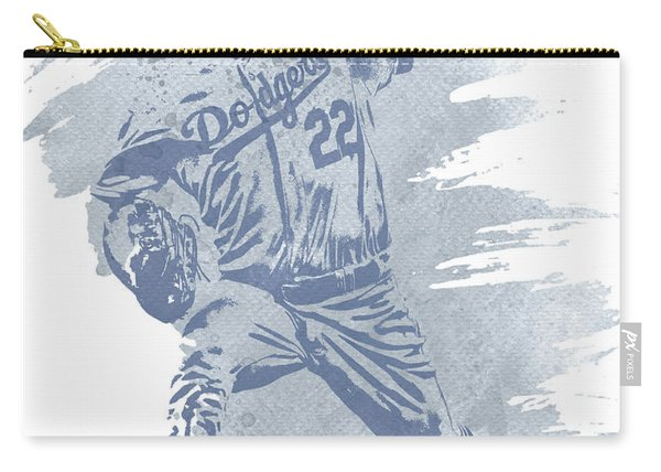 Clayton Kershaw Los Angeles Dodgers Water Color Art 1 Carry-all Pouch
