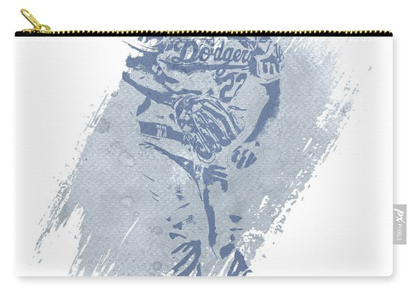 Clayton Kershaw Los Angeles Dodgers Water Color Art 2 Carry-all Pouch