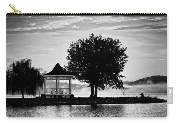 Claytor Lake Gazebo - Black And White Carry-all Pouch