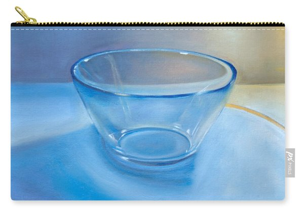 Clear Blue, Glass Art Carry-all Pouch