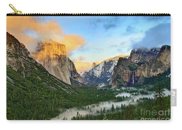Clearing Storm - View Of Yosemite National Park From Tunnel View. Carry-all Pouch