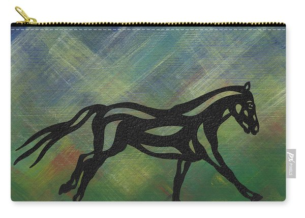 Clementine - Abstract Horse Carry-all Pouch