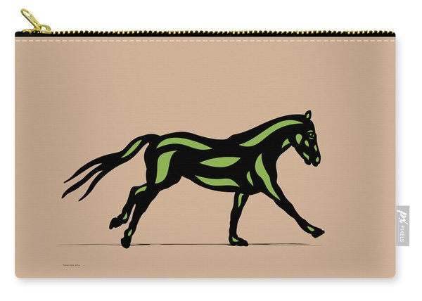 Clementine - Pop Art Horse - Black, Geenery, Hazelnut Carry-all Pouch