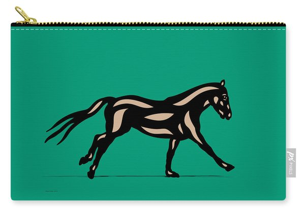 Clementine - Pop Art Horse - Black, Hazelnut, Emerald Carry-all Pouch