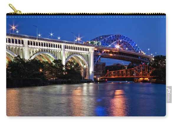 Cleveland Colored Bridges Carry-all Pouch