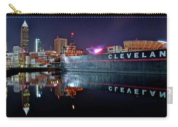 Cleveland Lakefront Pano Reflection Carry-all Pouch