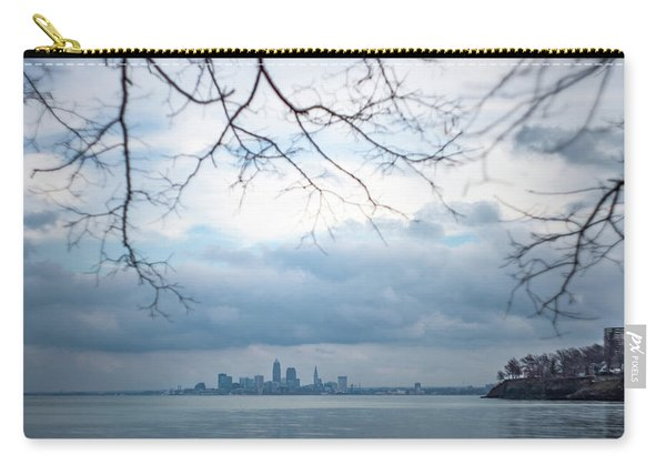Cleveland Skyline With A Vintage Lens Carry-all Pouch