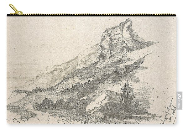 Cliff At Sainte Adresse Carry-all Pouch