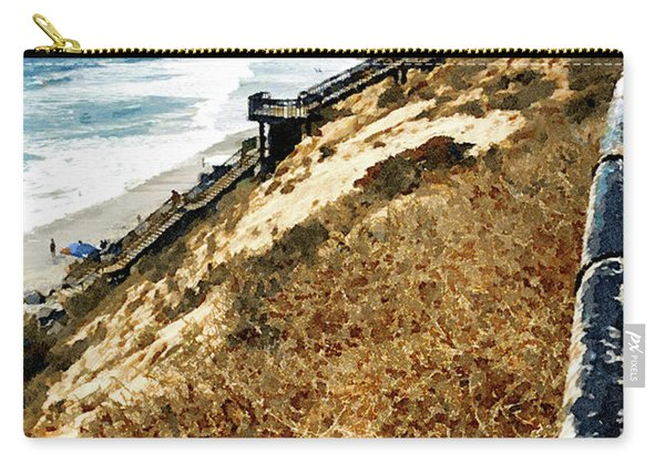 Cliff View - Carlsbad Ponto Beach Carry-all Pouch