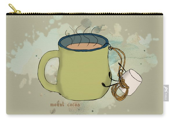 Climbing Mt Cocoa Illustrated Carry-all Pouch