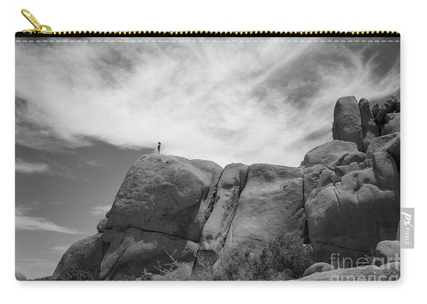 Climbing To The Top Bw Carry-all Pouch