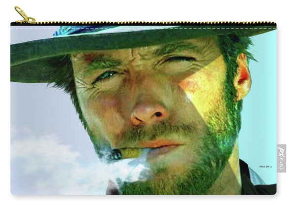 Clint Eastwood In Sergio Leone's Dollars Trilogy Carry-all Pouch