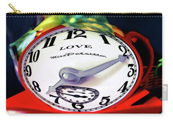 Clock In The Garden Painting 2 Carry-all Pouch