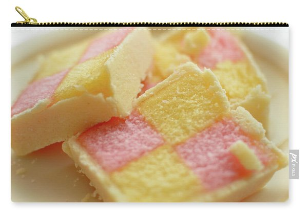 Close Up Of Battenberg Cake E Carry-all Pouch
