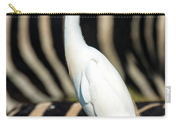 Close-up Of Cattle Egret Bubulcus Ibis Carry-all Pouch