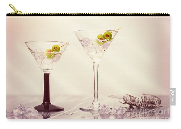 Close Up Of Martini Cocktails Carry-all Pouch
