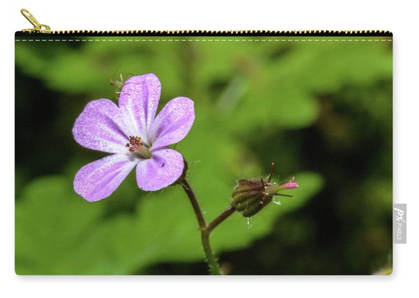 Close Up Of Shining Cranesbill A Carry-all Pouch