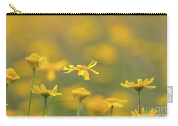 Close Up Of Yellow Flower With Blur Background Carry-all Pouch