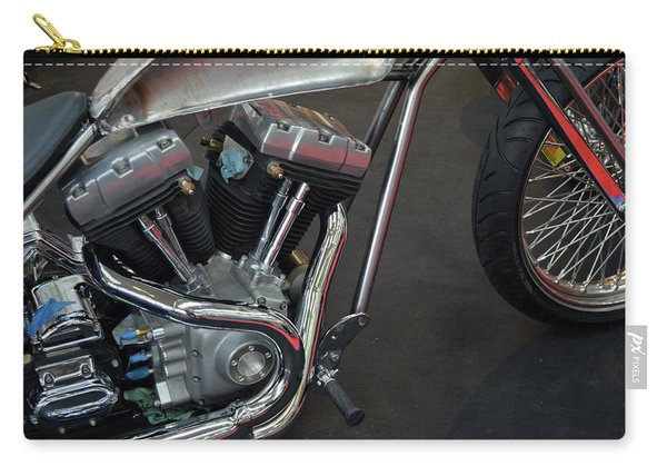 Close Up On Motorcycle Body Carry-all Pouch