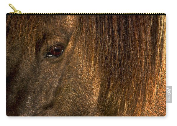 Closeup Of An Icelandic Horse #2 Carry-all Pouch