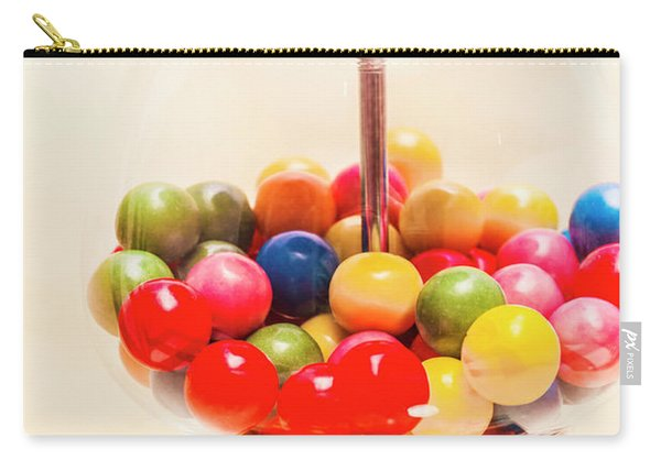 Closeup Of Colorful Gumballs In Candy Dispenser Carry-all Pouch