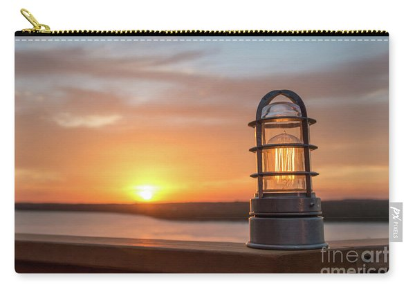 Closeup Of Light With Sunset In The Background Carry-all Pouch