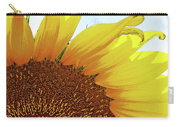 Closeup Poster Sunflower Carry-all Pouch