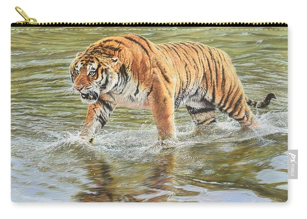 Carry-all Pouch featuring the photograph Closing In by Alan M Hunt