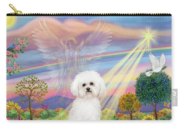 Cloud Angel And Bichon Frise Carry-all Pouch