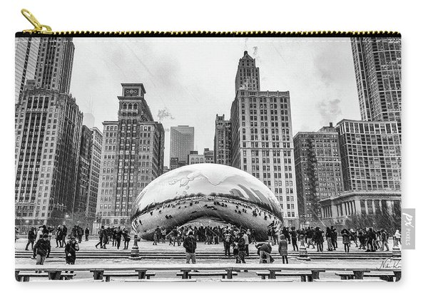 Cloud Gate Bw Carry-all Pouch