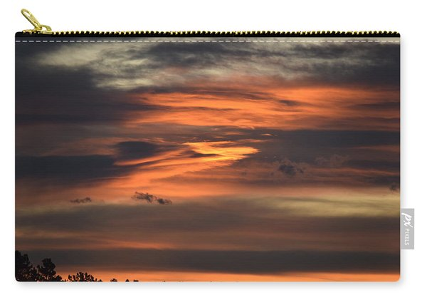 Carry-all Pouch featuring the photograph Clouds At Dawn Over Ridge by Margarethe Binkley