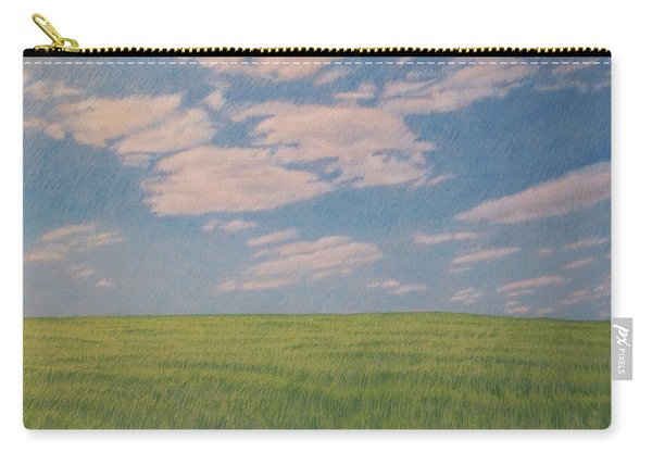 Clouds Over Green Field Carry-all Pouch