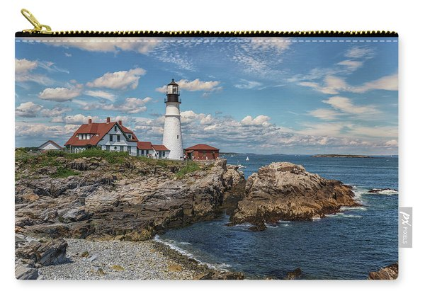 Clouds Over Portland Head Lighthouse Carry-all Pouch