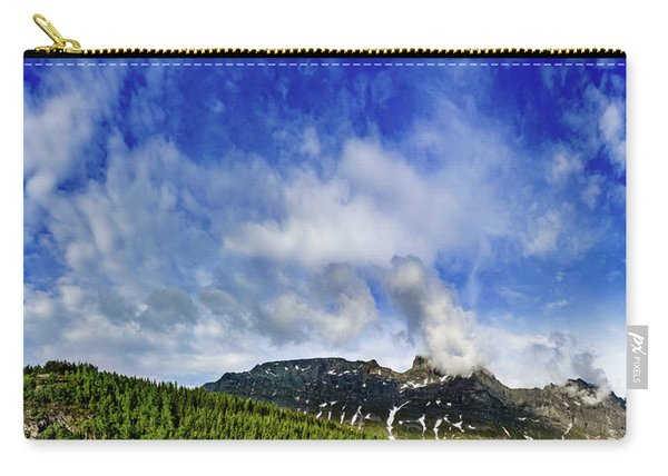 Carry-all Pouch featuring the photograph Clouds Over The Tops by Dmytro Korol