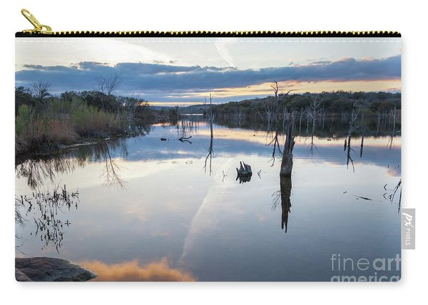 Clouds Reflecting On Large Lake During Sunset Carry-all Pouch
