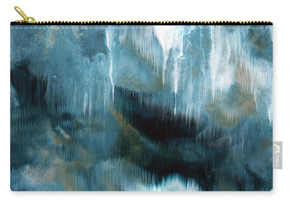 Clouds Rolling In- Abstract Art By Linda Woods Carry-all Pouch