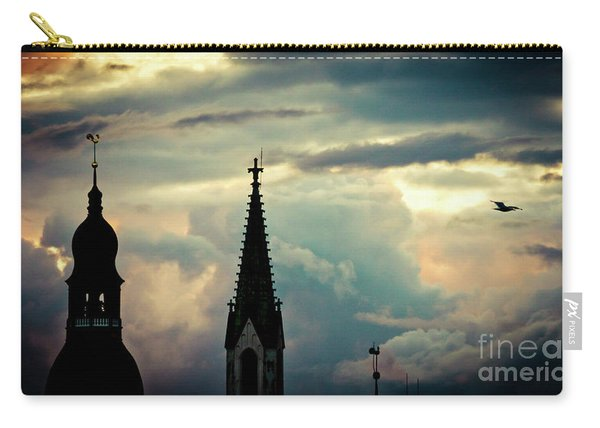 Cloudscape Sunset Old Town Riga Latvia Carry-all Pouch