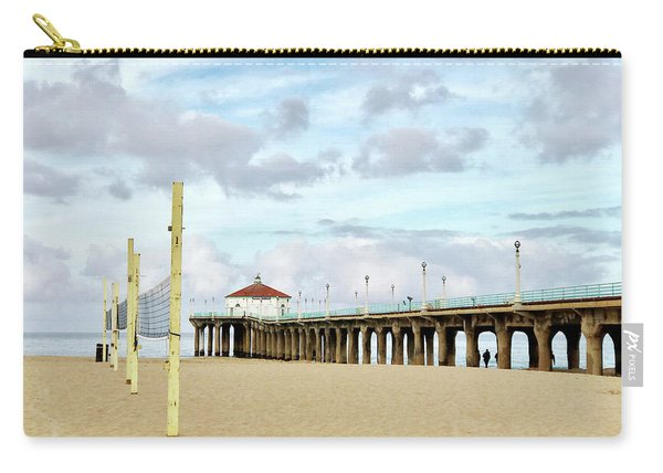 Cloudy Day In Manhattan Beach Carry-all Pouch