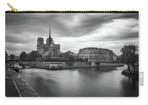 Cloudy Day On The Seine Carry-all Pouch