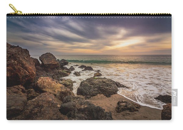 Cloudy Point Dume Sunset Carry-all Pouch