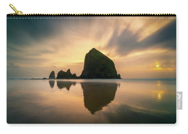 Cloudy Sunset At Cannon Beach Carry-all Pouch