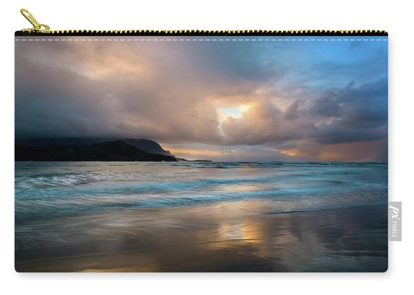 Cloudy Sunset At Hanalei Bay Carry-all Pouch