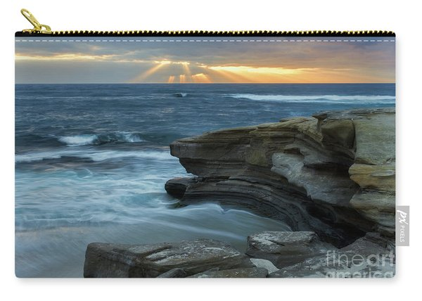 Cloudy Sunset At La Jolla Shores Beach Carry-all Pouch