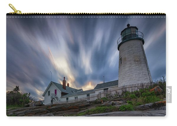 Cloudy Sunset At Pemaquid Point Carry-all Pouch