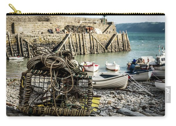 Carry-all Pouch featuring the photograph Clovelly Crab Trap by Nick Bywater