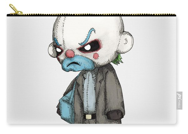 Clown Bank Robber Plush Carry-all Pouch