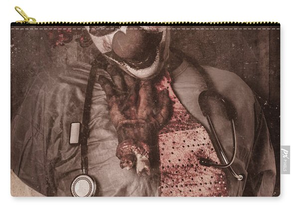 Clown Doctor Being Strangled By Autopsy Limb Carry-all Pouch
