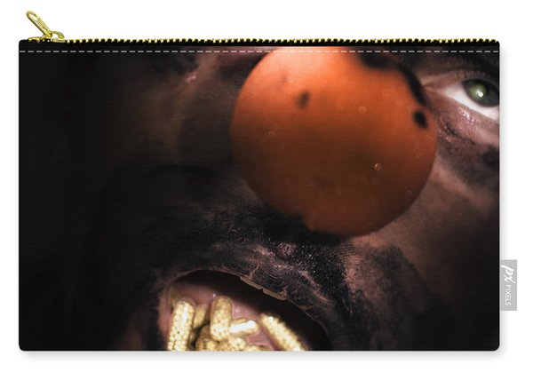 Clown With Capsules In Mouth Carry-all Pouch